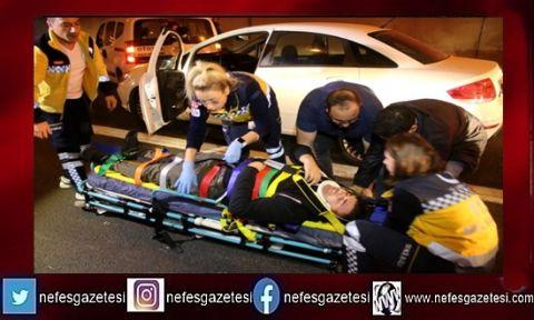 Kocaeli'de otoyol tünelinde trafik kazası ve yangın tatbikatı