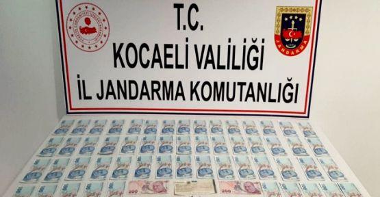 Kocaeli'de piyasaya sahte para sürmeye çalışan kişi yakalandı!