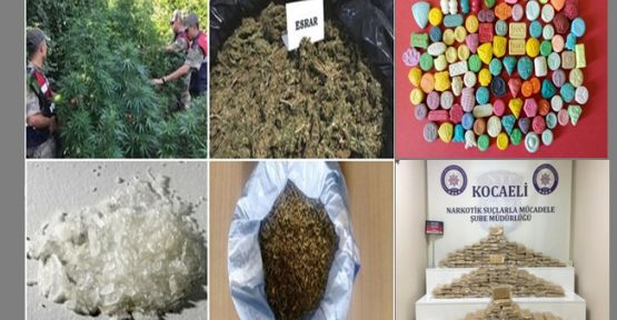 Kocaeli'nde çok sayıda uyuşturucu hap el geçirildi