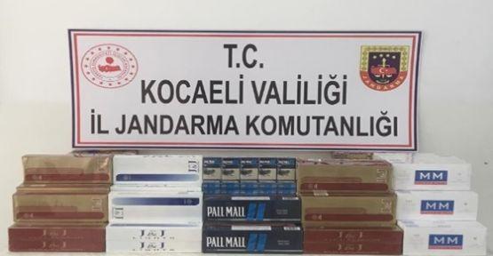 Kocaeli'nde Kaçak Sigara Operasyonu