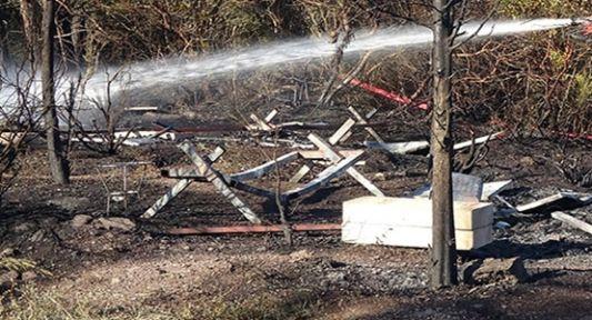 Kovanların yanında yakılan ateş ormana sıçradı