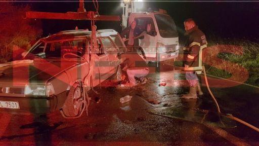 Köy Yolunda Araç Takla Attı:2 Yaralı
