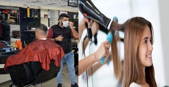 Kuaför ve güzellik salonlarında  yeni önlemler alındı