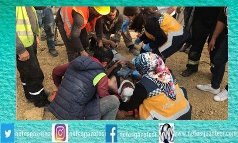 Kuzey Marmara Otoyolu inşaatında  korkunç kaza:4 yaralı