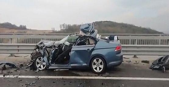 Kuzey Marmara Otoyolu'nda feci kaza!