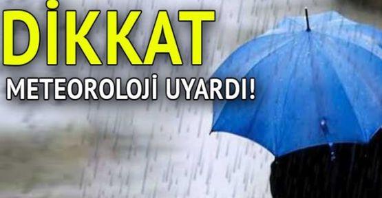 Meteoroloji uyardı! Marmara'da sağanak yağış bekleniyor
