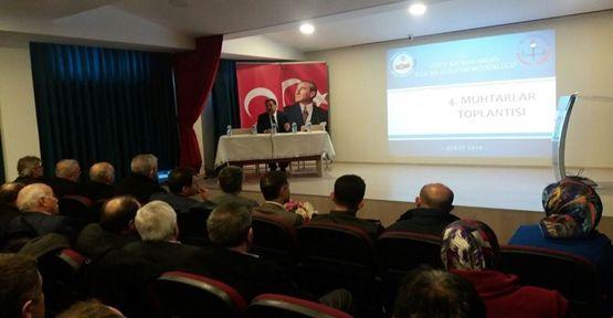 Milli Eğitim ile Muhtarlar toplantısı yapıldı