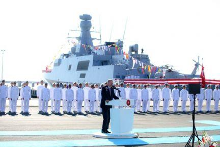 """Milli savaş gemisi """"Kınalıada"""" Deniz Kuvvetlerine teslim edildi"""