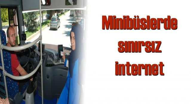 Minibüslerde sınırsız internet