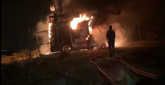 Mobil baz istasyonları yandı!