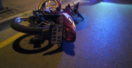Motosikletle kaza yapan 1 kişi öldü 1 kişi yaralandı