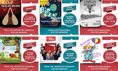 Ocak ayı kültür sanat etkinlikleri