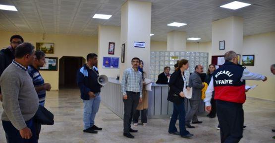 Öğrenci Yurdu'nda tahliye tatbikatı