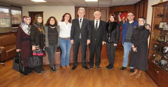 Okul Aile Birliklerinden Başkan Ellibeş'e Ziyaret