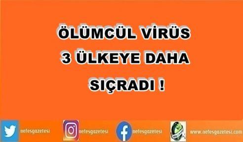 Ölümcül virüs 3 ülkeye daha sıçradı