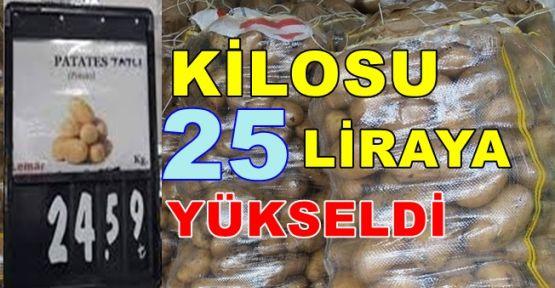 Orada Patatesin fiyatı 25 liraya yükseldi!