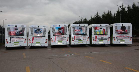 Otobüsler, emniyetin mesajını iletecek