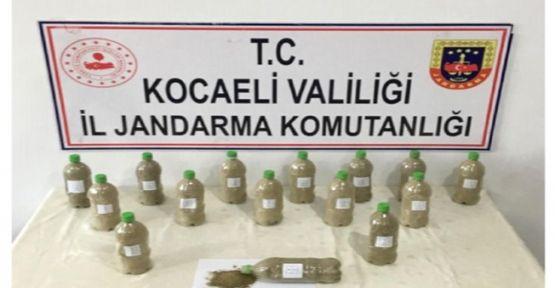 Pet şişelere zulalanmış uyuşturucu Jandarma'ya takıldı!