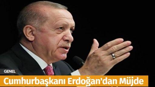 Recep Tayyip Erdoğan Müjdeyi Verdi
