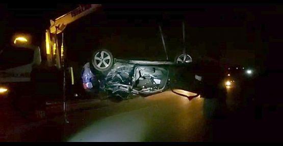 Şarampole uçan otomobil sürücüsü hayatını kaybetti!