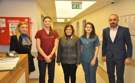 Serap Çakır, sağlık çalışanları ile bir araya geldi