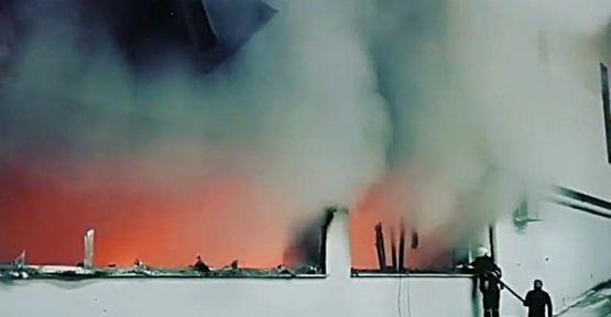 Silah fabrikasında çıkan yangın söndürüldü !