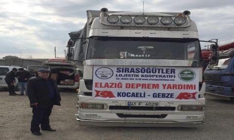 Sırasöğütler kooperatifinden Elazığ'a yardım kampanyası