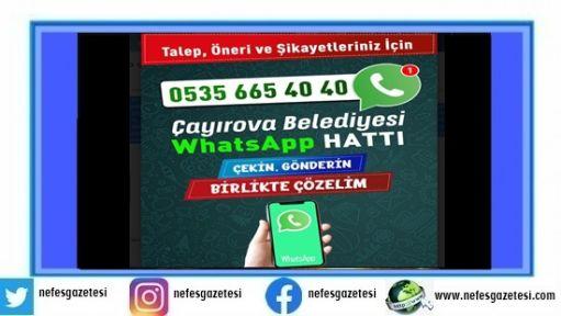Sorunlar Whatsapp çözüm hattı ile çözülüyor!