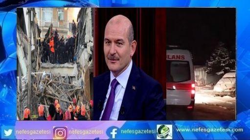 Soylu:İstanbul'da 7,5'lik bir deprem bekliyoruz