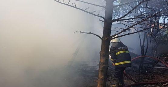Tavşanlı Köyü'nde ki Yangın Büyümeden Söndürüldü