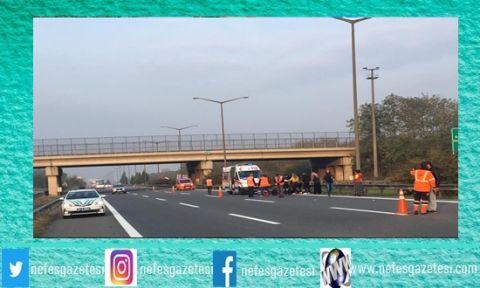 TEM otoyolunda motosiklet kazası: 1 ölü, 1 yaralı