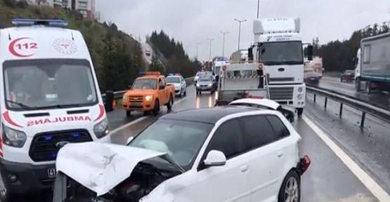 TEM'de 10 araçlı zincirleme kaza;3 yaralı!