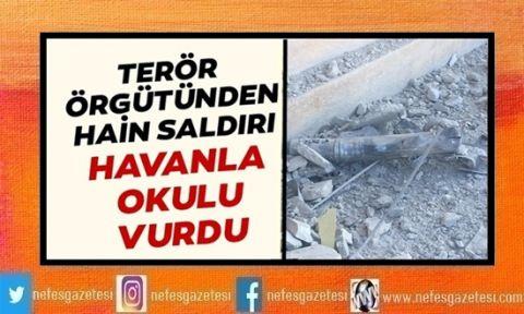 Terör örgütü havanla okul vurdu