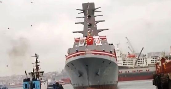 Test ve Eğitim Gemisi Ufuk Törenle Denize İndirildi