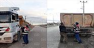 Gebze'de ağır tonajlı araçlara denetim...