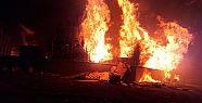 Palet fabrikasında büyük yangın !