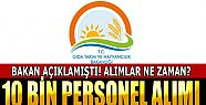 Tarım ve Orman Bakanlığı 10 Bin Personel...