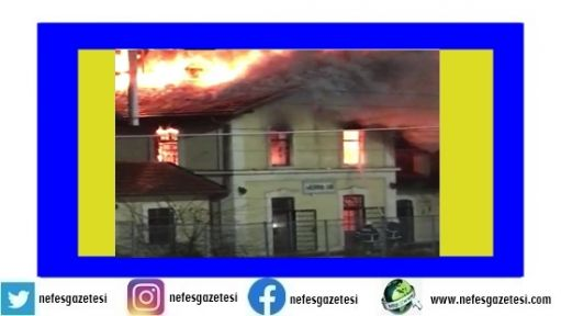Tren istasyonunda yangın çıktı