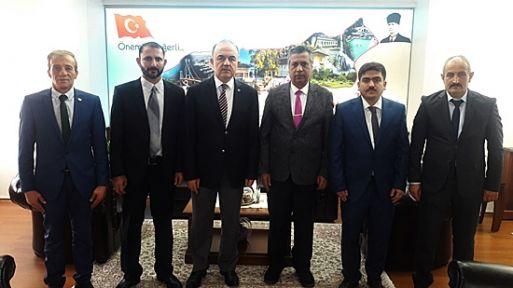 Uluslararası Gazeteciler Cemiyeti Vali Erol'u ziyaret etti