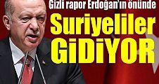 Suriyeliler gidiyor: Gizli rapor Erdoğan'ın önünde