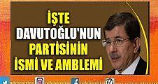 Davutoğlu'nun partisinin ismi ve amblemi
