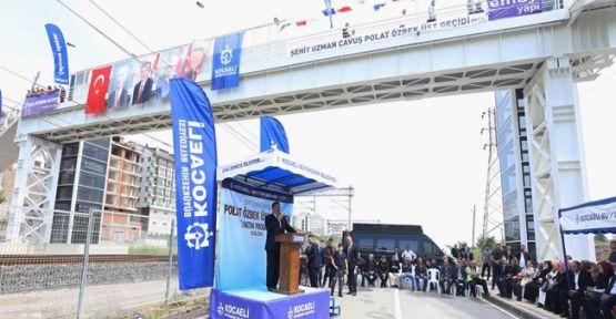 Uzman Çavuş Polat Özbek Yaya Üst Geçidinin tanıtımı yapıldı