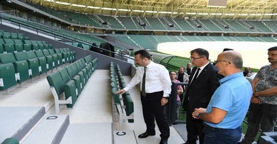 Vali Aksoy Kocaeli Stadyumunda İncelemelerde Bulundu!