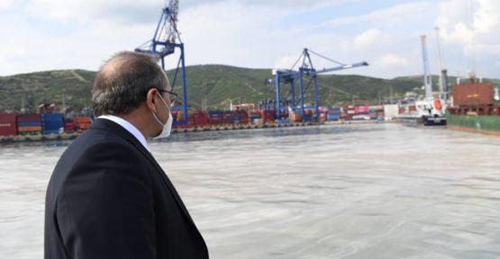 Vali Seddar Yavuz liman bölgelerindeki müsilajı inceledi