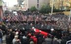 Şehit jandarma er Ömer Özavcı, bugün Dilovası'nda düzenlenen törenle son yolculuğuna uğurlandı