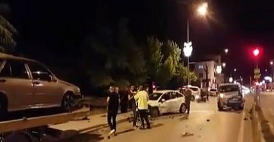 Kısıtlamada zincirleme kaza; 5 yaralı