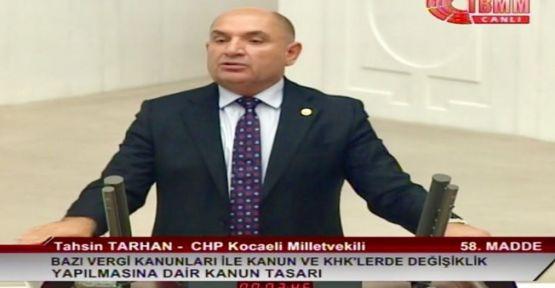 Kocaeli Milletvekili Tahsin Tarhan'dan Basın Açıklaması