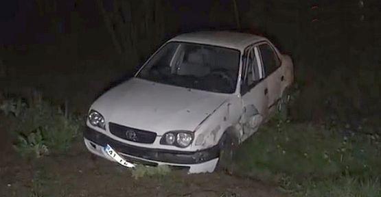 Kocaeli'de meydana gelen kazada araç köprüden aşağıya uçtu!