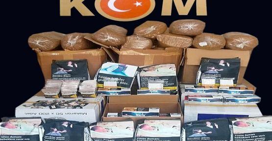 Kocaeli'de yüzlerce kilo kaçak tütün ele geçirildi