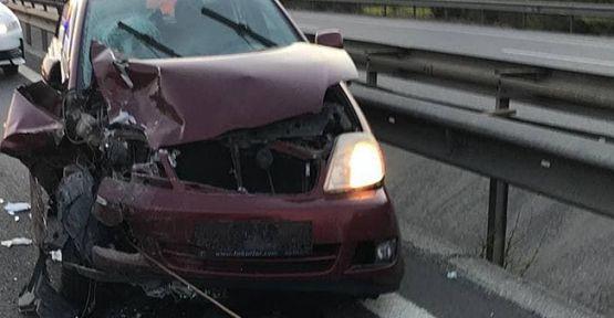 TEM'de zincirleme kaza; 6 yaralı!